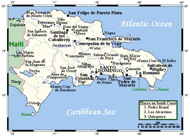 מפת הרפובליקה הדומיניקנית