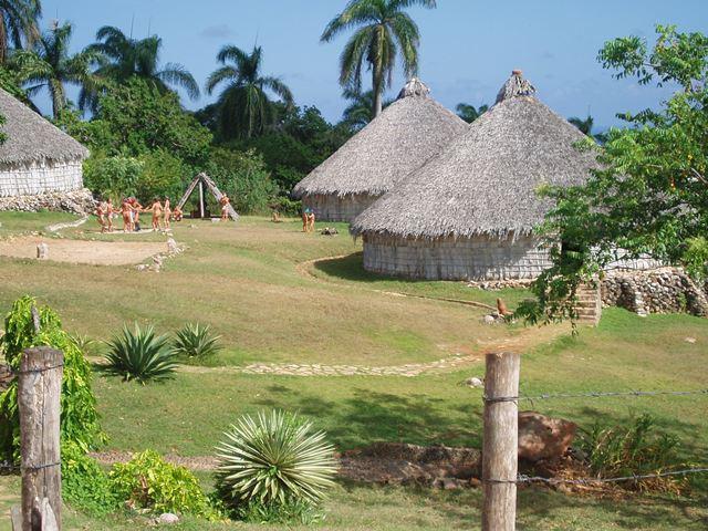 כפר מסורתי של אנשי שבט טאינו